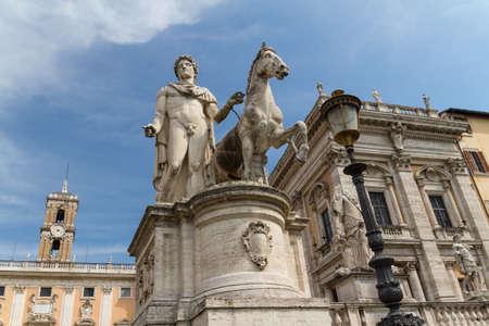 Campidoglio square (Piazza del Campidoglio) in Rome, Italy