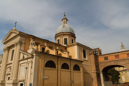Great church in center of Rome, Italy. Stock Photo - 16842895