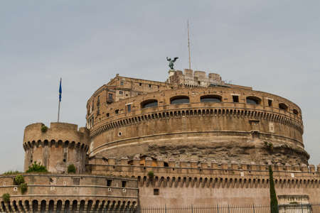 The Mausoleum of Hadrian, usually known as the Castel SantAngelo, Rome, Italy