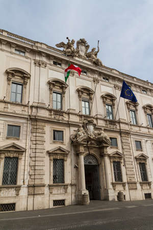 Rome, the Consulta building in Quirinale square.