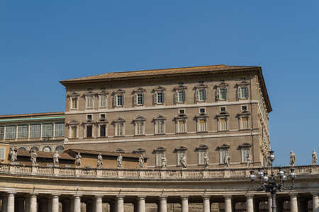 Buildings in Vatican, the Holy See within Rome, Italy. Part of Saint Peter's Basilica.