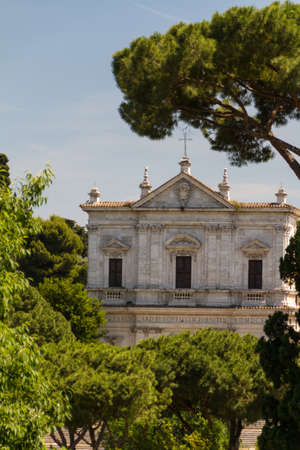 Great church in center of Rome, Italy. Stock Photo - 16844680
