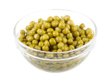 green peas, in a bowl, isolated, white background photo