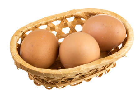 Eggs isolated on white background photo