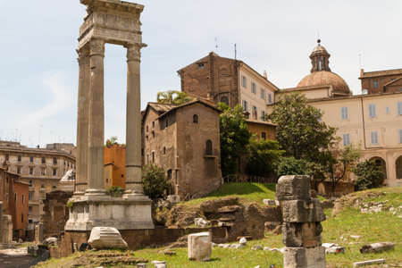 Ruins by Teatro di Marcello, Rome - Italy photo