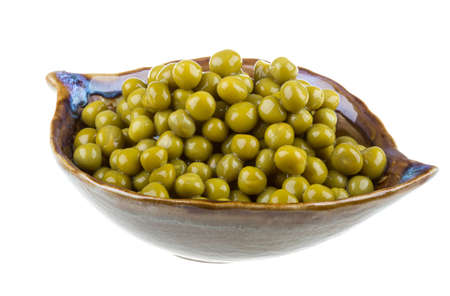 green peas, in a bowl, isolated, white background Stock Photo - 16997070