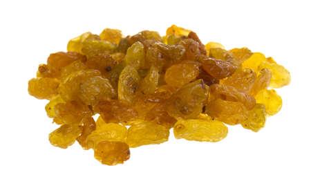Golden raisins over white Stock Photo - 17076420