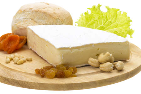 brie: piece of Brie cheese