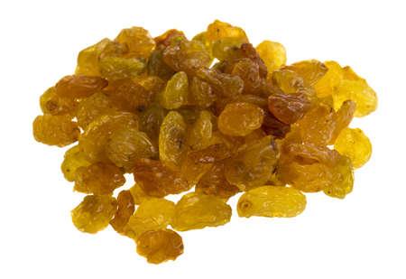 Golden raisins over white Stock Photo - 17176319