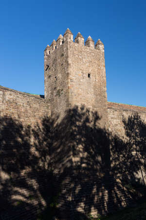 Old Wall and Tower of Barcelona City