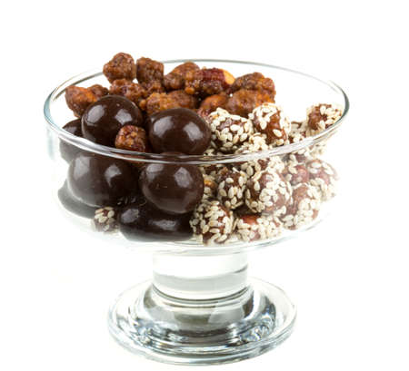Chocolate covered nuts photo