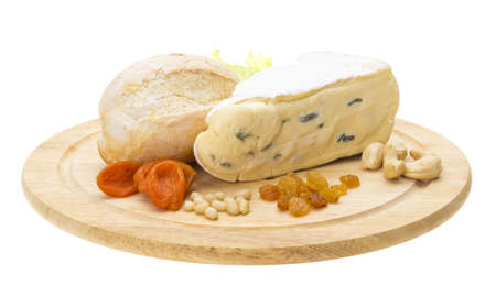 a piece of Brie cheese Stock Photo - 17204789