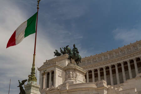 altar of fatherland: Rome, National Monument to the king Victor Emmanuel II