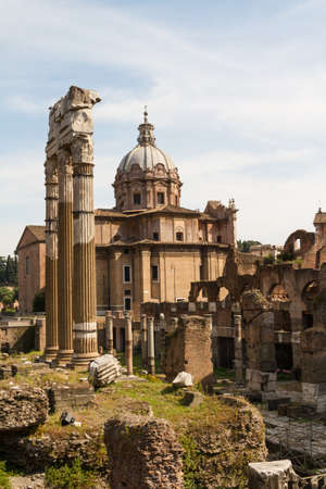 Building ruins and ancient columns  in Rome, Italy Stock Photo - 17241888