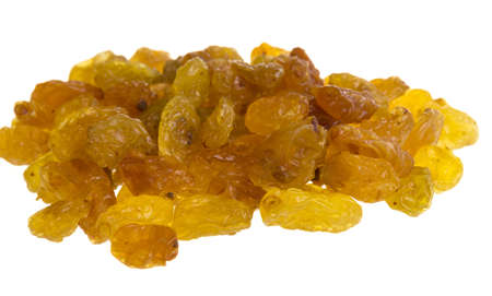Golden raisins over white Stock Photo - 17279256