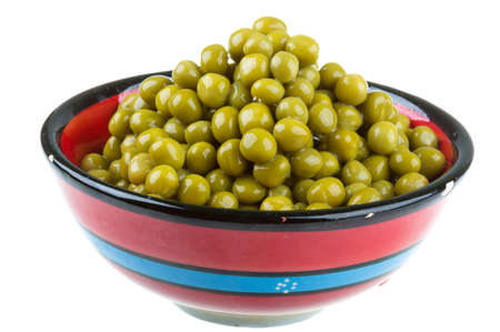 green peas, in a bowl, isolated, white background Stock Photo - 17279524