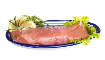 fresh trout fillet photo