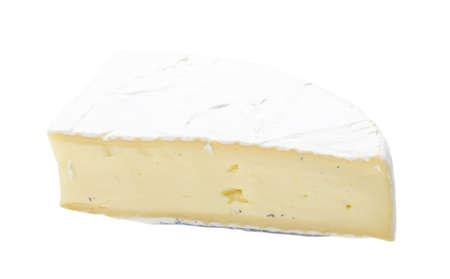 A piece of soft brie cheese photo