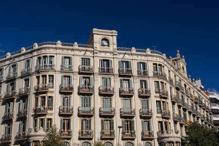 Buildings facades of great architectural interest in the city of Barcelona - Spain