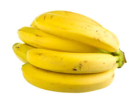 Bunch of bananas on white background photo