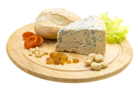 Slice of blue cheese Stock Photo - 17366588