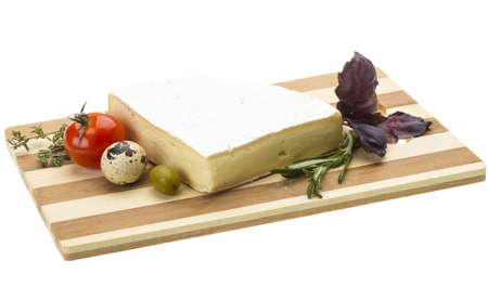 Wedge of Gourmet Brie Cheese Stock Photo - 17366965