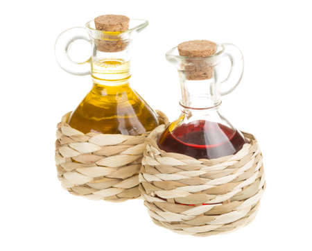 Red Wine Vinegar and sunflower oil photo