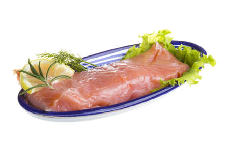 fresh trout fillet Stock Photo - 17406816
