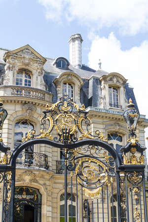 Historic building in Paris France photo