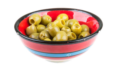 Olives over white background photo
