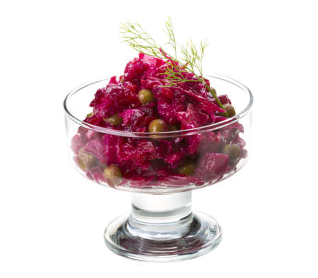 Vinaigrette Russian beetroot salad photo