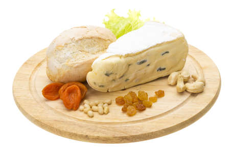 a piece of Brie cheese Stock Photo - 17489486