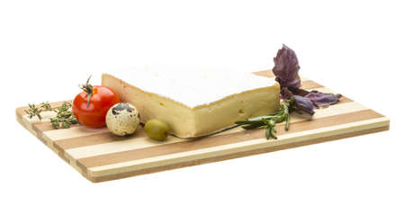 Wedge of Gourmet Brie Cheese Stock Photo - 17489423