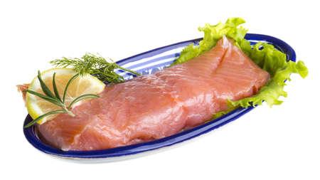 fresh trout fillet Stock Photo - 17880084