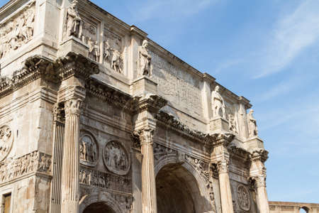 constantine: The Arch of Constantine, Rome, Italy