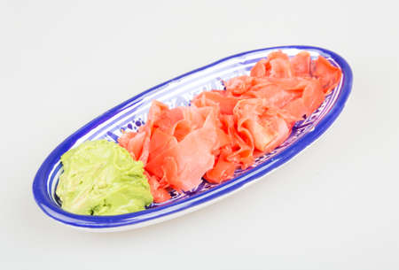 royalty free stock photos: Wasabi and Sushi Ginger Stock Photo