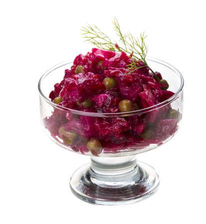 Vinaigrette Russian beetroot salad photo