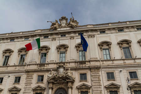 Rome, the Consulta building in Quirinale square. Stock Photo - 18306397