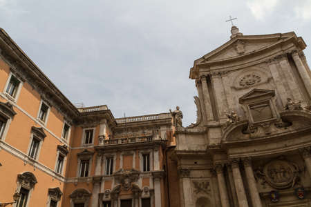 Great church in center of Rome, Italy. Stock Photo - 18361257