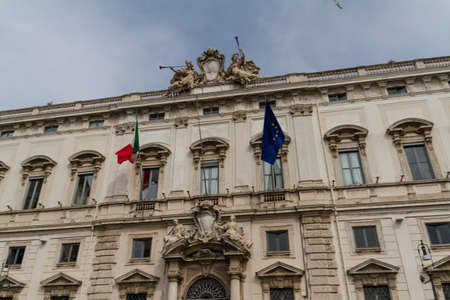 Rome, the Consulta building in Quirinale square. Stock Photo - 18361328
