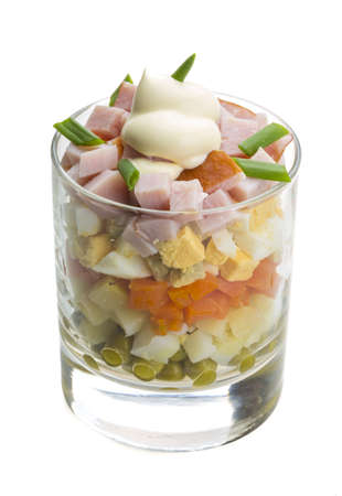 Portion of Russian salad photo