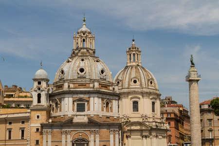 Chiesa del Santissimo Nome di Maria al Foro Traiano and Santa Maria di Loreto in Rome, Italy Stock Photo - 18823800