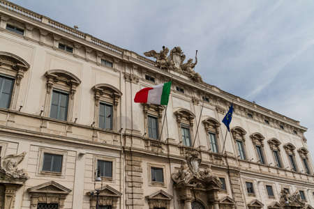 Rome, the Consulta building in Quirinale square. Stock Photo - 18833166