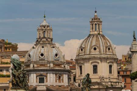 Chiesa del Santissimo Nome di Maria al Foro Traiano and Santa Maria di Loreto in Rome, Italy Stock Photo - 18924698