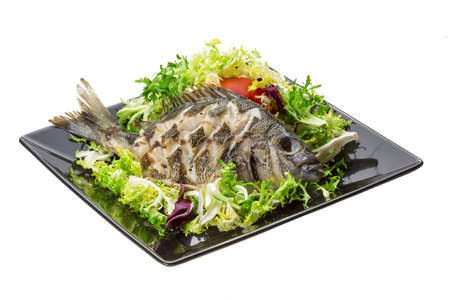tilapia: Grilled Tilapia with salad