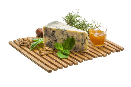 Dor blue cheese with herbs, nuts and honey Stock Photo - 19554428