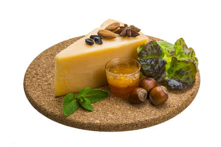 Old hard cheese Stock Photo - 19554691