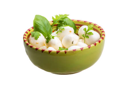 Mozzarella with herbs photo