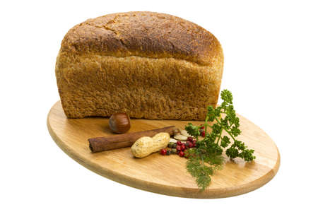 Bread with parsley and nuts photo