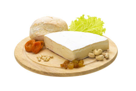 piece of Brie cheese photo